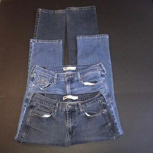 👖👖Two pairs Levi's 505 Straight Leg Denim Jeans